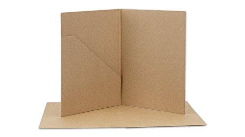 CD- und Foto-Hülle mit Tasche und Schlitz, Kraftkarton, Kraftpapier, braun - 10er Pack