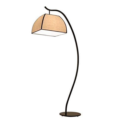 ZCYXQR Lámpara de pie Lámpara de pie China Luz de Suelo Moderna Minimalista Sala de Estar Dormitorio de Estudio lámpara de Mesa de Estilo de Hierro Forjado Cuadrado