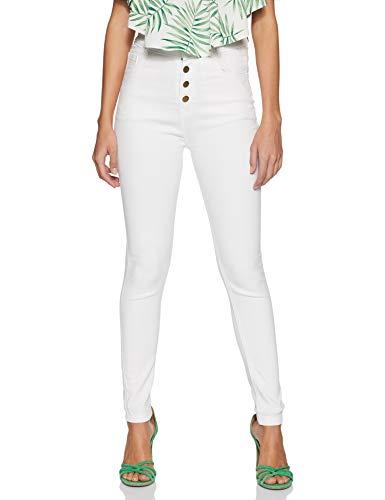 Miss Olive Women's Skinny Fit Jeans (MOSS19DEN30-11-82_White_32)