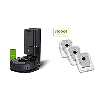 iRobot Roomba i7+ (7550) Robot Vacuum with Clean Base Automatic Dirt Disposal Bags, 3-Pack, Compatible with all Clean Base models