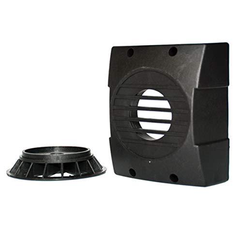 iplusmile 2 Stück Gravurmaschine quadratisch luftgekühlt Spindelmotor Rückabdeckung Universal Spindelmotor Lüfterblatt und Lüfterabdeckung (3,5 kW), 1616658Y1NZO, Schwarz, Größe 1