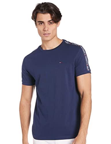 Tommy Hilfiger RN tee SS Camiseta, Azul (Navy Blazer 416), Medium para Hombre