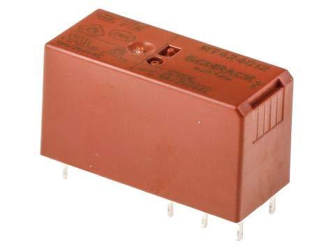 Teensy TE Connectivity RT424012 6 1393243 3 RT2 Monostabiles Relais 12V dc Spule 2 poliger Wechsler x 1 Stuck
