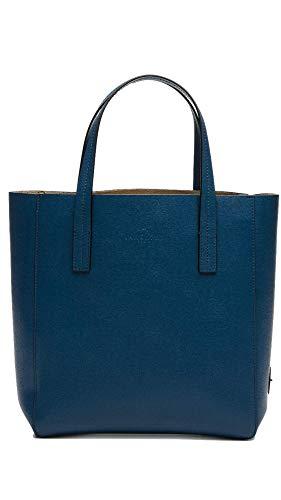 LAMARTHE Damen Henkeltasche Sac Space Saffiano Leather Tote, GP102U, 29 x 27 x 10 cm, Blau - Blau 706 - Größe: Medium