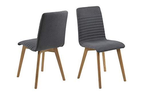 AC Design Furniture Silla de Comedor, Tela, Antracita,...
