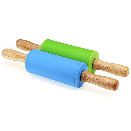 Manico in legno antiaderente per bambini in legno 22cm Confezione da 2 pezzi