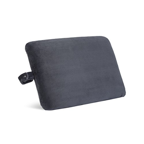 World's Best 3581 Char Cushion-Soft Memory Foam Pillow, Rectangle, Charcoal
