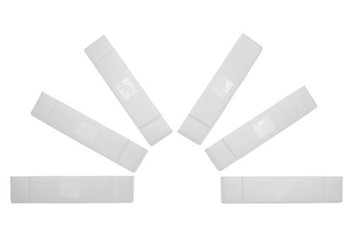 GGG0018 Video Game Cartridge Dust Cover 6 Pack: for Super Nintendo Games (SNES Protector Sleeve Cover or Case)