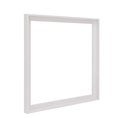 Pixy Canvas 12x12 inch Floater Frame for Canvas Paintings, Wood Panels, Canvas Panels & Stretched Canvas Boards. Floating Frame fits 5/8', 3/4' & max 7/8' Deep Artwork (White, 12 x 12 in)