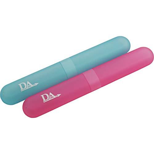 2 x Zahnbürsten-Etui ~ Zahnbürstenhülle, Kunststoff Halter, Lagerung Reinigung Bürsten auf Reisen