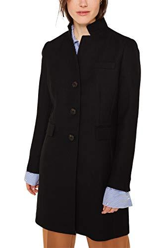 ESPRIT Damen 010EE1G302 Mantel, Schwarz (Black 001), Medium (Herstellergröße: M)
