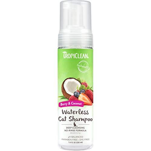 Tropiclean Deep Cleaning Waterless Shampoo per Gatti,...