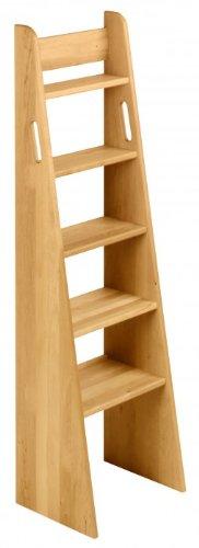 BioKinder 22214 Noah Treppen-Leiter Hochbett Treppe aus Massivholz Erle 140 cm