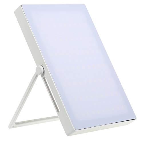 ZJING Portable Sad Lamp 5000-35000 Lux LED Bright Sad Light UV-Free Therapy Lamp Adjustable Brightness with Bracket Memory Timing,Blue Light