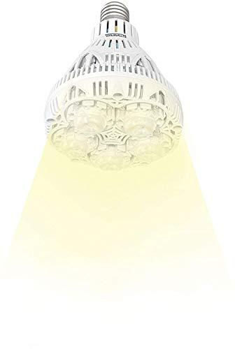 Sansi Växtlampa LED E27 fullspektrum-24 W växtlampa dagsljusvit 2700 lm, odlingsljus full cykel, växtlampa för växthus, inomhusväxter, hydroponisk odling