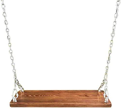El Swing de Madera Puede soportar un Peso de 300 kg, Que es Muy Adecuado para Columpios al Aire Libre, Columpios de jardín, Columpios, Columpios de 60 cm de Chapa Larga + Accesorios-Chapa de 60 c