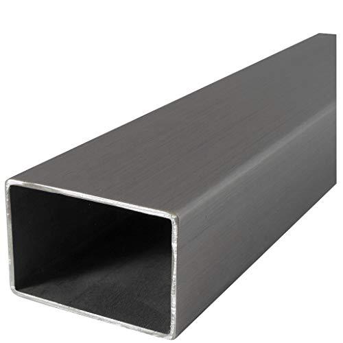 Aluminium Rechteckrohr Aluprofil Vierkantrohr ALMgSi0,5 F 22 Oberfl/äche blank gezogen Abmessungen 20x15x2 mm L/änge 500 mm