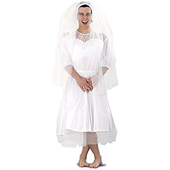Disfraz barato de Novia para hombre talla M-L: Amazon.es: Juguetes ...