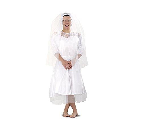 Disfraz barato de Novia para hombre talla M-L