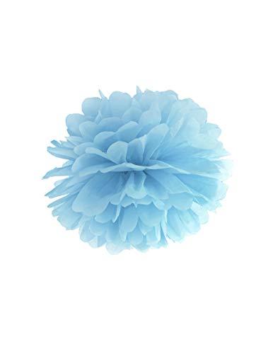 PartyDeco Pompon à Suspendre en Papier Bleu 35 cm - Bleu - Taille Unique