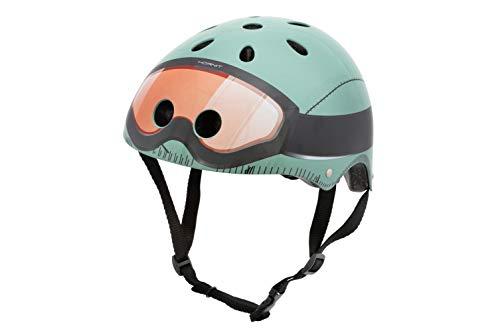 hornit Kinderhelm Fahrradhelm für Mädchen und Jungs Herren und Damen - Komplett einstellbar - LED Rücklicht - Für Fahrrad, BMX, Go-Kart, Scooter oder Skateboard - (Small, Military)