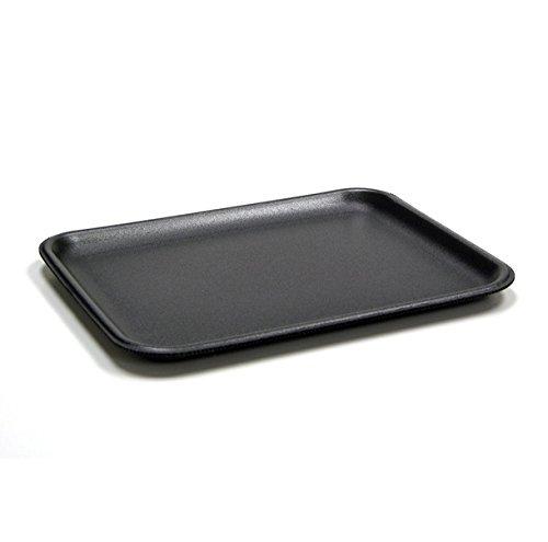 CKF 4SB, 4S Black Foam Meat Trays, Disposable Standart Supermarket Meat Poultry Frozen Food Trays, 125-Piece Bundle
