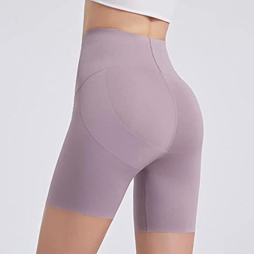 ArcherWlh Pantalones De Yoga,Yoga Sports Shorts High Cintura Hip Pantalones Pantalones Femeninos Fitness Fitness Cinco Pantalones-Luna_XXL