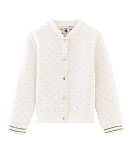 Petit Bateau Mädchen Cardigan_5119701 Strickjacke, Weiß (Marshmallow 01), 152 (Herstellergröße: 12ans/152cm)