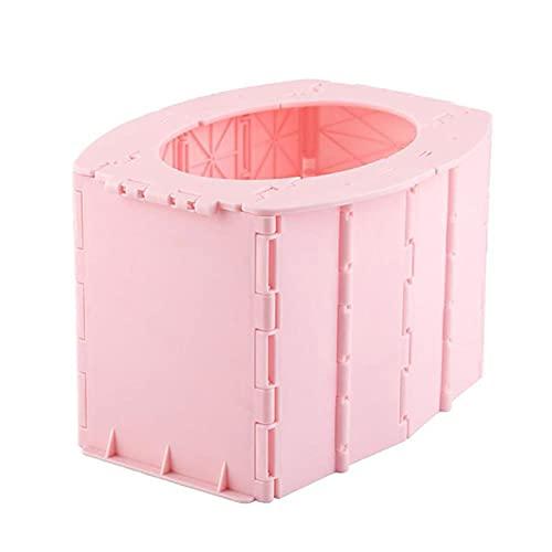 Bomoya - Secchio per WC pieghevole e portatile, ideale per adulti, WC pieghevole, impermeabile, portatile, pieghevole, per auto, barca, escursionismo, lunghi viaggi
