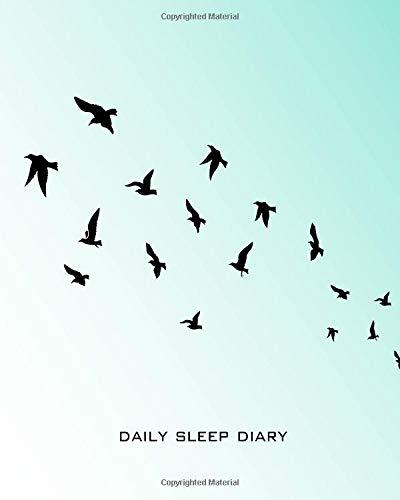Daily Sleep Diary: Birds Flying Overhead a Blue Calming Sky Sleeping & Insomnia Log Book