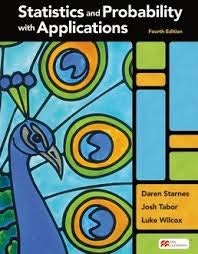 Compare Textbook Prices for Statistics and Probability with Applications High School Fourth Edition ISBN 9781319244323 by Starnes, Daren S.,Tabor, Josh,Wilcox, Luke