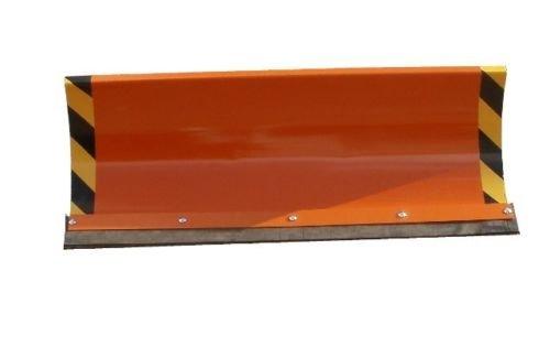 Schneepflug Räumschild Universal Schneeschild für Einachser und Rasentraktor mit Reflektoren Orange / 100 x 40 cm / 3 Stufen verstellbar