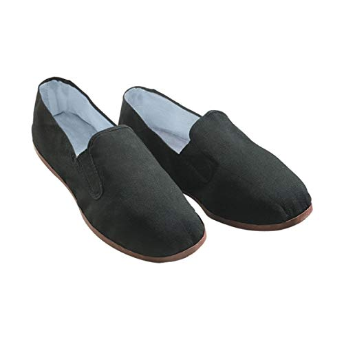 Kung Fu Tai Chi Shoes - Rubber Sole (Men's 10 1/2 to 11 (44)) Black