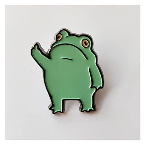 YSVSPRF Spilla Metallo Cartoon Smalto Pin Cute Animal Badge Accessori Gioielli Accessori Paint Spumante per Borse Abbigliamento Caps Badge (Metal Color : Rhodium Plated)