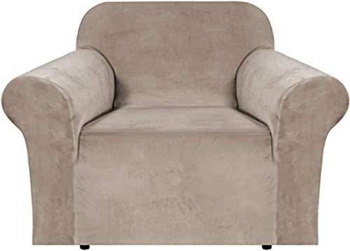 DYWLQ Funda de sofá de Felpa de Terciopelo, Fundas de sofá de Felpa de Gran Elasticidad, Fundas de sofá de Felpa Ultra Suaves-Color de Cuero