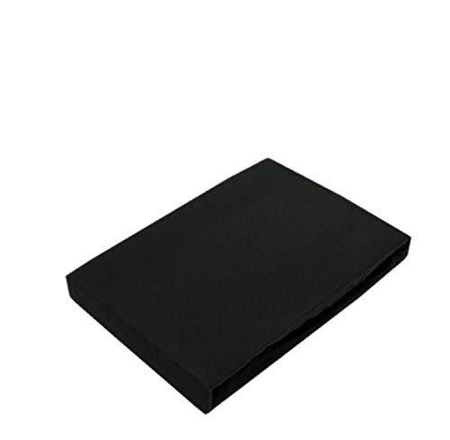 Drap-housse en jersey de qualité supérieure avec élastique, Coton, Noir , 60 x 120 - 70 x 140 cm