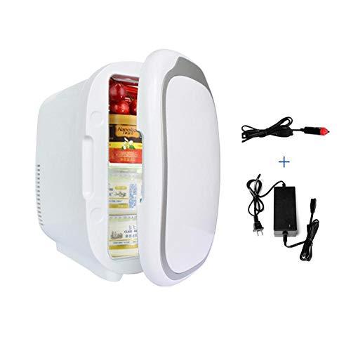 Luckything Mini-reiskoelkast, 6 liter, koelbox, thermo-elektrische autokoel- en warmteapparaat, draagbare koelkast, mini-koelkast, perfect elektrische koelbox voor reizen en camping, 12 V B