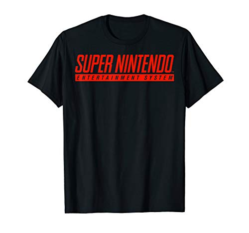 Official Super Nintendo Entertainment System Classic Logo T-Shirt, 8 Colors for Men, Women, Youth