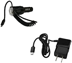 FYL 2 AMP Car Charger + Wall Charger for Samsung Galaxy Stratosphere II 2 SCH-I415