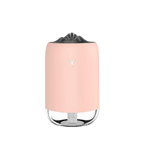 Humidificadores Difusor Aceites Esenciales 260Ml Led Light Home Car Aroma Difusor Mist Maker Humidificador Eléctrico Humidificador De Aire Rosa