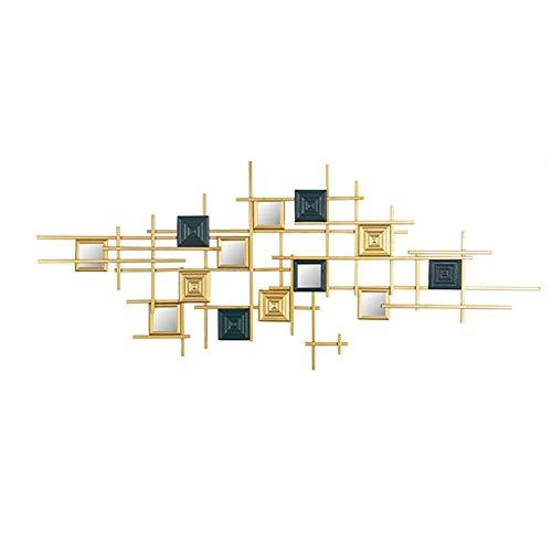 ZHICHUAN Ilustraciones de la Pared Gran Escultura de la Pared Del Metal la Decoración Del Arte, Moderno Abstracción Inicio Accesorios 47.2X18.8 Pulgadas Listo para Colgar Accesorios