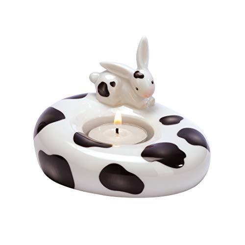 Goebel - 66874314: Bunny de luxe - Cow Bunny - Teelichthalter
