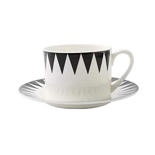 XDYNJYNL Cerámica 225 ml de taza de café y platillo, 7.6oz estilo europeo tazas de coco latte liso con asa pareja taza taza jugo para muchachos tazas de taza regalos (Color : C)