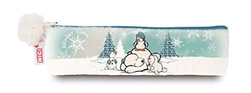 Nici 42050 Winter Stiftemäppchen mit Eisbär, Pinguin, Robbe und Schneemann, 19,5 x 5 cm, bunt