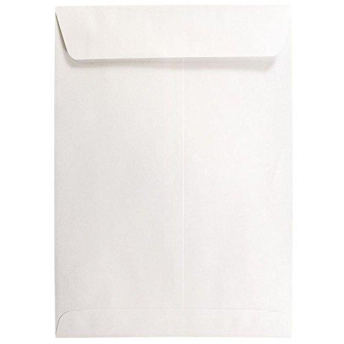 JAM PAPER 7 1/2 x 10 1/2 Open End Catalog Commercial Envelopes - White - 50/Pack