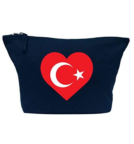 Flox Creative Trousse de maquillage Motif drapeau de la Turquie et cœur