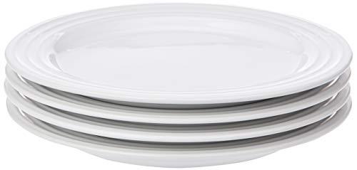 Le Creuset Stoneware Set of 4 Salad Plates, 8.5' each, White