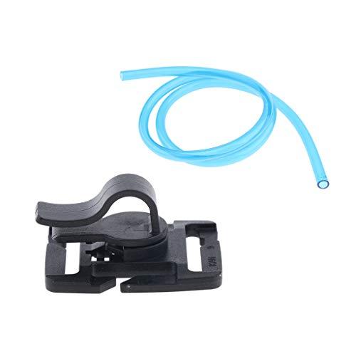 SM SunniMix Paquete de Hidratación Clip de Manguera + Tubo de Hidratación de Repuesto de 3 Pies para Bolsas de Burbujas - Azul Negro