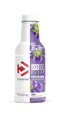 Dymatize ISO100 Clear 100% Whey Protein Isolate, Whey Protein Drink, 25g Protein, No Sugar