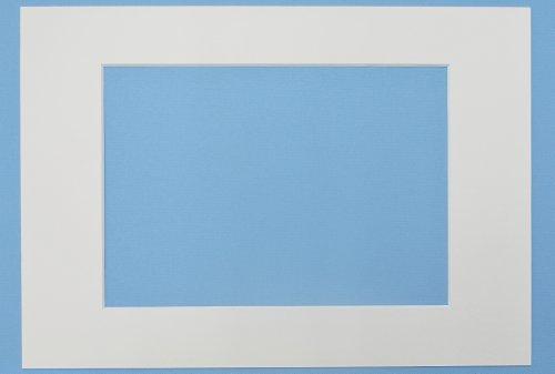 Art & More Passepartout 3er Set Weiss 13x18 cm mit Ausschnitt für 10x15 cm Bilder, 3 Stück Passepartouts in Museumsqualität